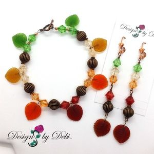 """""""The Leaves Are Changing"""" Bracelet & Earrings Set"""